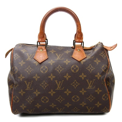 Louis Vuitton Speedy 25 Satchel in Monogram Canvas and Vachetta Leather