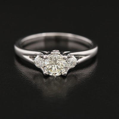 14K Diamond Ring with Peek-a-Boo Gallery