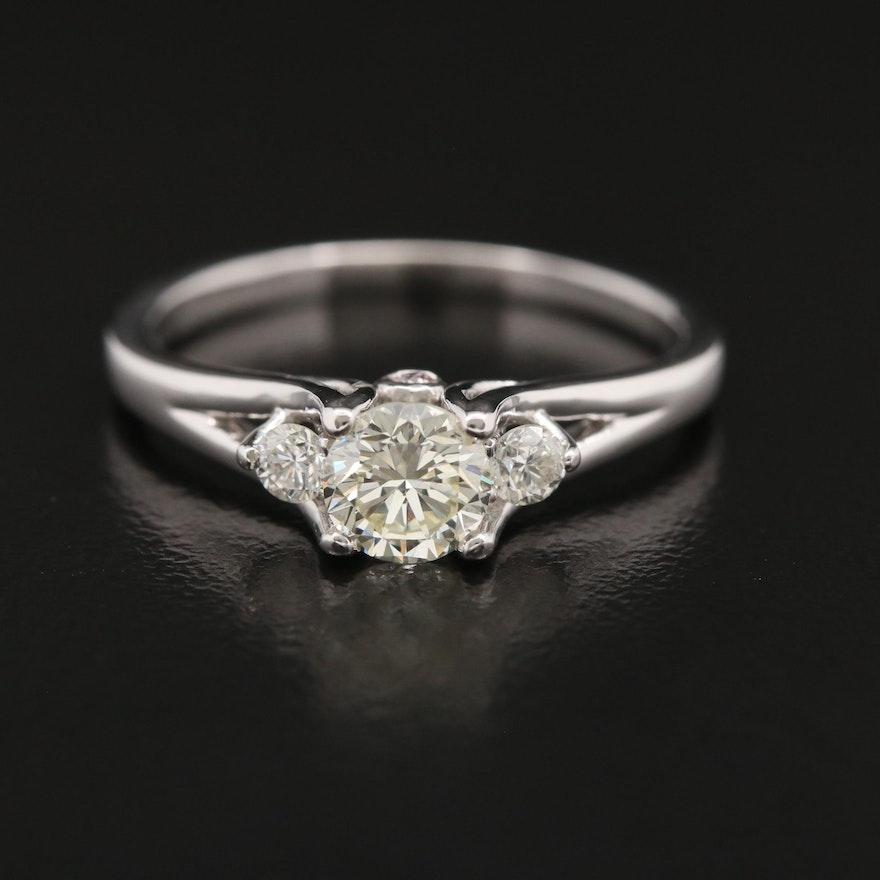 14K Diamond Ring with Peek-a-Boo Gallery