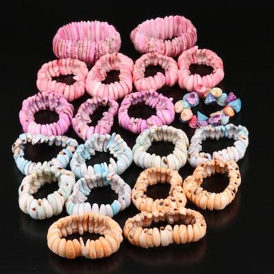 Various Expandable Shell Bracelets