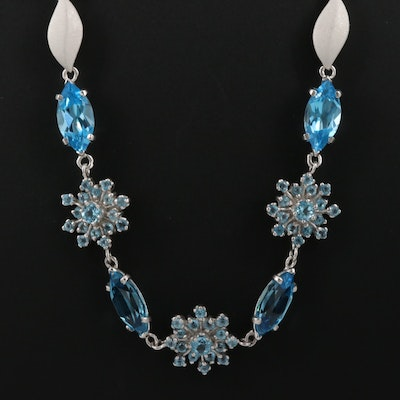 Sterling Topaz Necklace