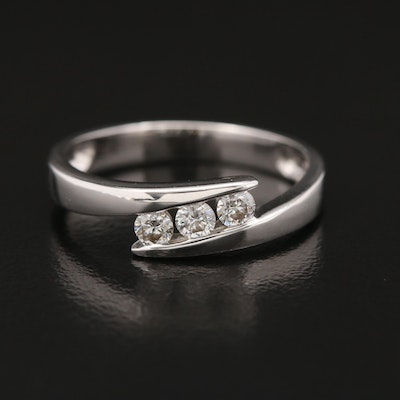 18K Diamond Bypass Band
