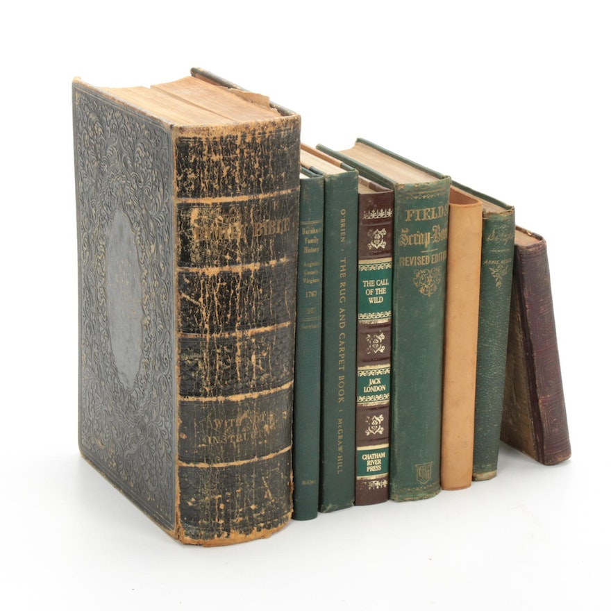 Religious, Fiction, and Nonfiction Books, Mid-19th and Mid-20th Century
