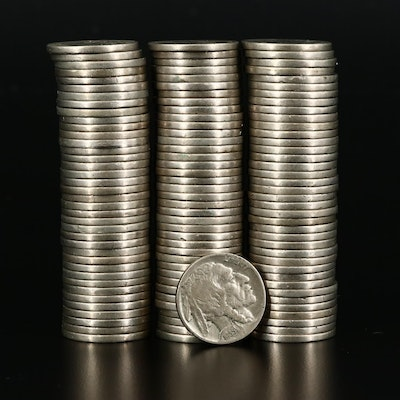 115 Full and Partial Dated Buffalo Nickels