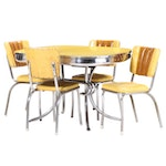 Mid Century Modern Chrome and Vinyl Dinette Set, Mid-20th Century