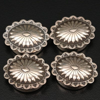 Western Sterling Silver Button Covers