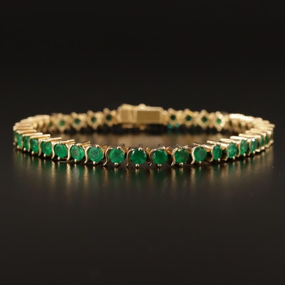 18K Emerald Line Bracelet
