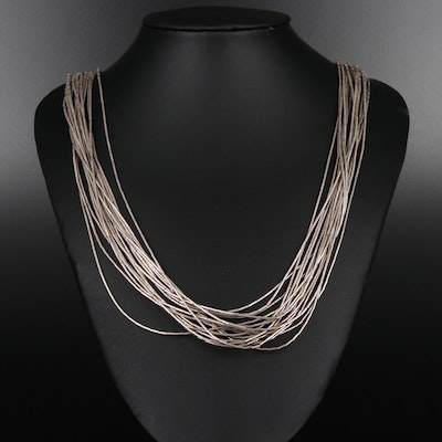 Sterling Western Style Liquid Silver Necklace