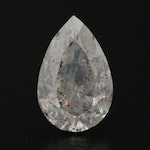 Loose 2.58 CT Pear Faceted Diamond