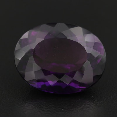 Loose Oval Faceted Amethyst
