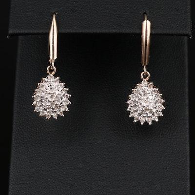 10K Diamond Dangle Earrings