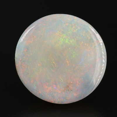 Loose 23.88 Round Opal Cabochon