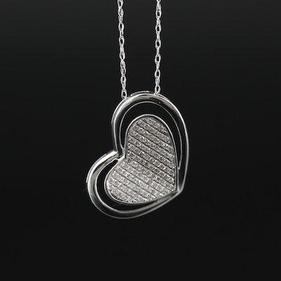 14K Diamond Heart Necklace
