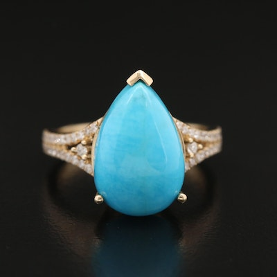 EFFY 14K Turquoise and Diamond Ring