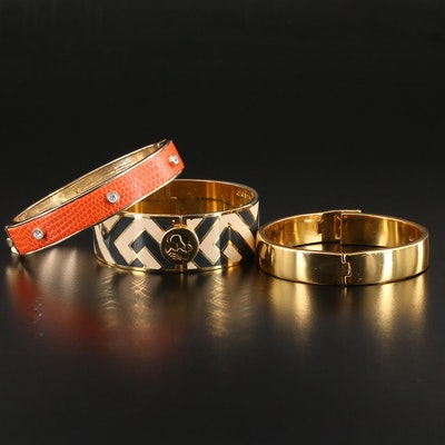 Enamel, Glass, and Faux Leather Bracelets Featuring Kate Spade and Anne Klein