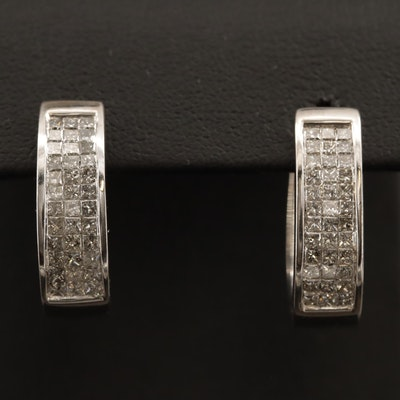14K 2.02 CTW Diamond Hoop Earrings