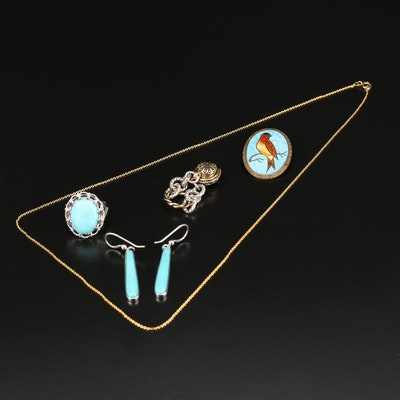Jewelry Selection Featuring Relios by Carolyn Pollack Ring and Gullioché Brooch