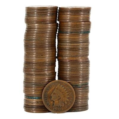 Ninety Indian Head Cents