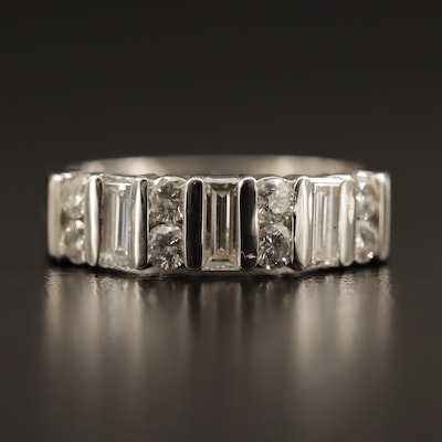 Platinum Diamond Multi-Row Ring
