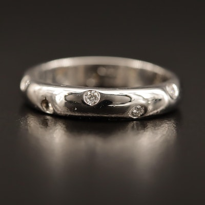 Tiffany & Co. 'Etoile' Platinum and Diamond Band