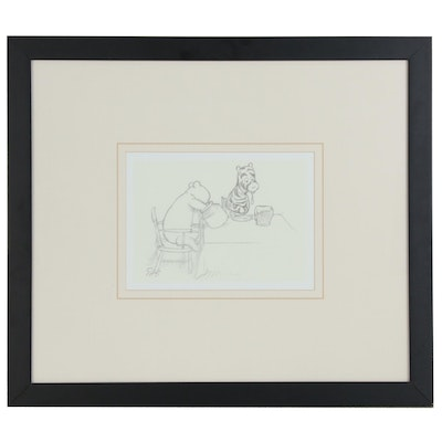 Winnie the Pooh Offset Lithograph after Edward Howard Shepard