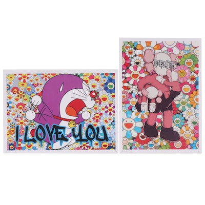 """Death NYC Pop Art Graphic Prints Featuring """"I Love You A"""", 2020"""