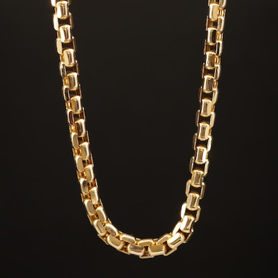 14K Venetian Link Chain Necklace