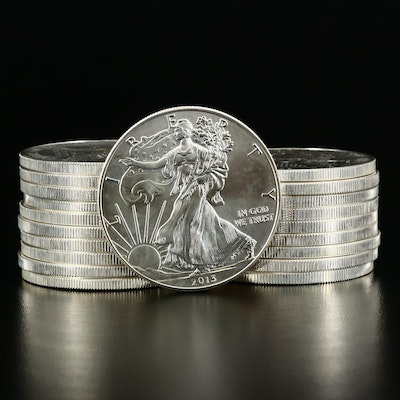 Mint Roll of Twenty 2013 American Silver Eagle Bullion Coins