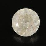 Loose 10.28 CT Round Brilliant Cut Diamond