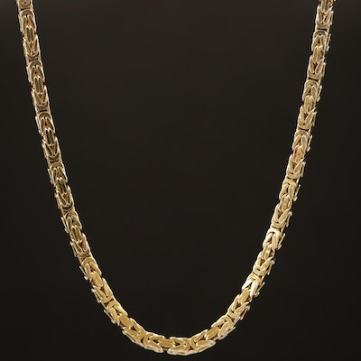 14K Cubic Byzantine Chain Necklace