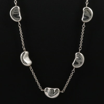 "Elsa Peretti for Tiffany & Co. ""Five Bean"" Sterling Silver Necklace"