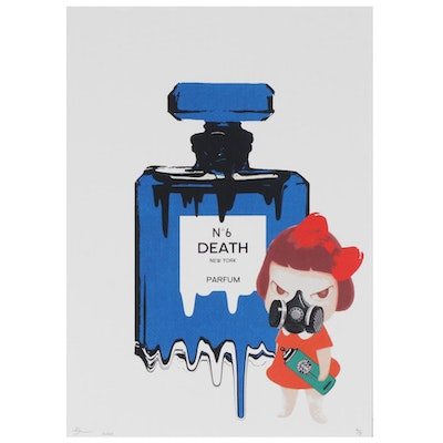 Death NYC Perfume and Spray Can Pop Art Graphic Print, 2020