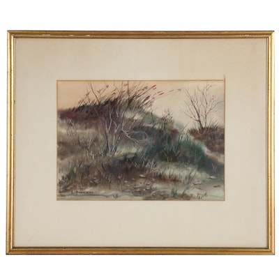 Samuel Lietman Landscape Watercolor Painting