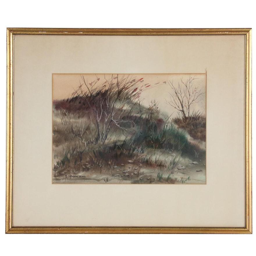 Samuel Lietman Landscape Watercolor Painting