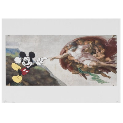 """Death NYC Graphic Print """"Mouse Creation"""", 2020"""