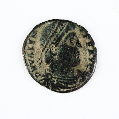 Ancient Roman Imperial AE3 Coin of Valens, ca. 364 A.D.
