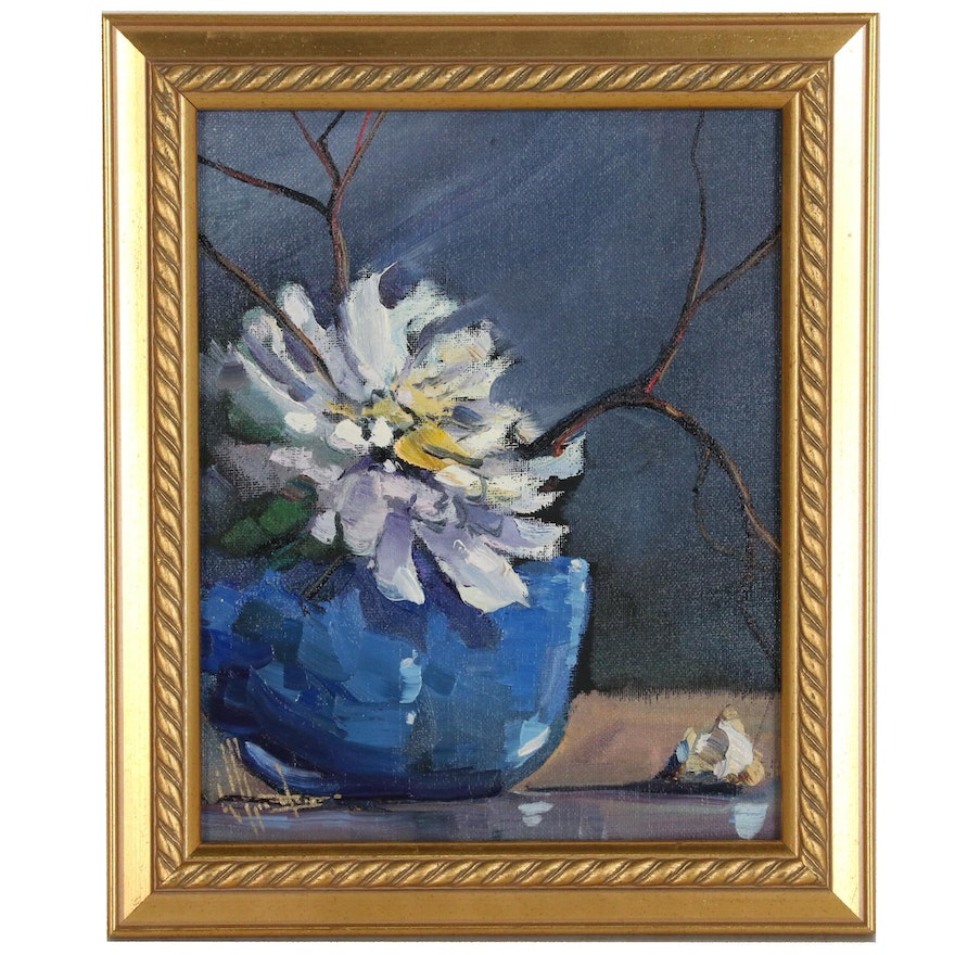 William Hawkins Floral Still Life Oil Painting, 21st Century
