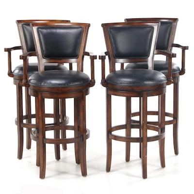Four Hillsdale Furniture Swivel-Seat Barstools