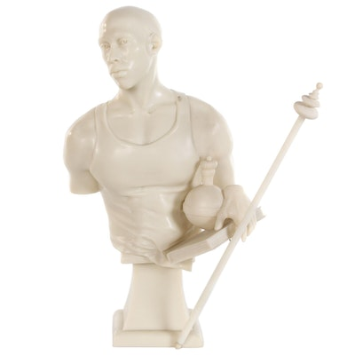 "Kehinde Wiley Cast Marble and Resin Sculpture ""St. Francis of Adelaide"", 2006"