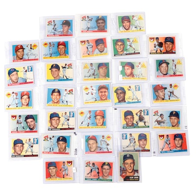 1955 Topps Baseball Cards with One 1953 Card