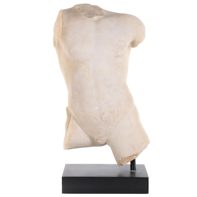 Classical Style Replica Resin Sculpture of a Male Torso, 20th Century