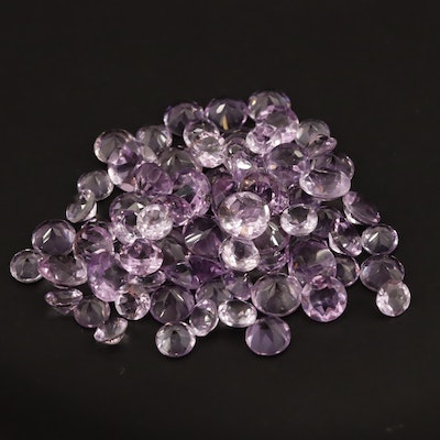 Loose 50.34 CTW Round Faceted Ametysts