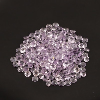 Loose 100.50 CTW Round Faceted Amethysts