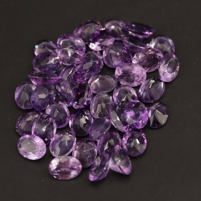 Loose 45.25 CTW Oval Faceted Amethysts