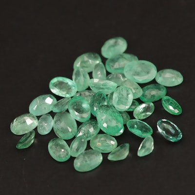 Loose 15.46 CTW Oval Faceted Emeralds