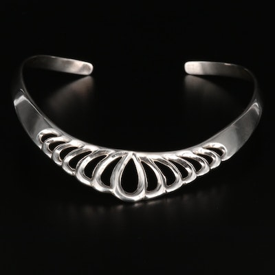 Mexican Sterling Silver Openwork Collar