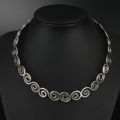 Sterling Swirl Collar