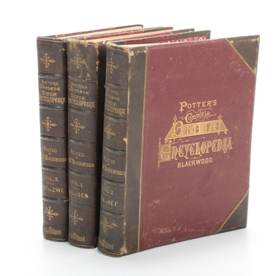 """Potter's Complete Bible Encyclopedia"" Reference Books, 1873"