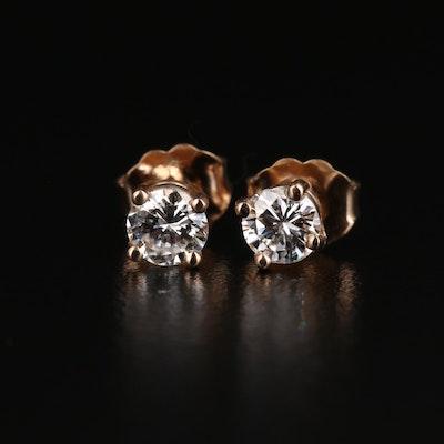 14K 0.57 CTW Diamond Stud Earrings