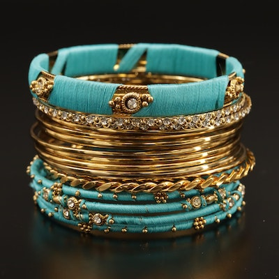 Bangle Bracelets Featuring Rhinestones